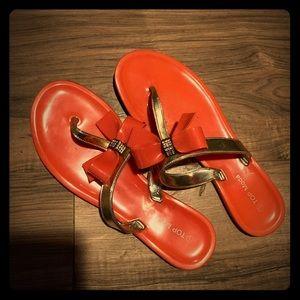 Jelly style flip flops